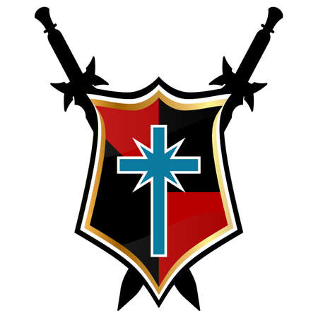 Templar Shield vector icon.