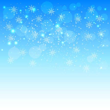 Christmas background solar situation snowflakes.