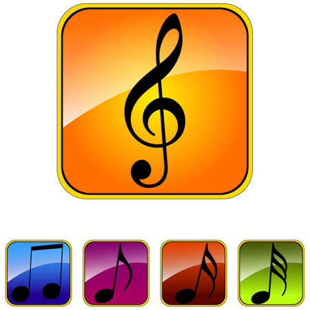 Vector image set of music icons. Illustration
