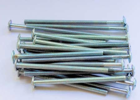 Bolt, nut, hardware, industrial, closeup, construction, fastener, industry, metal, metallic.