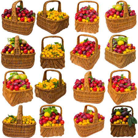 Fruit, healthy, red, pear, fresh, cherry plum, food, plums, sweet, eat. Stock Photo