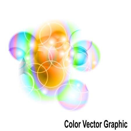 Colourful graphics bubble icon. Illustration