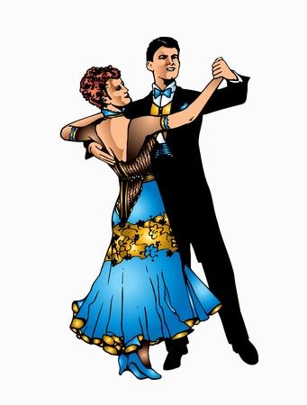 This is good couple dancing ballroom dance Stock Vector - 9820744