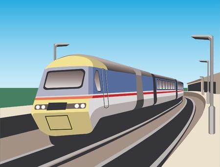 ce: C'est le train rapide sur la station Illustration