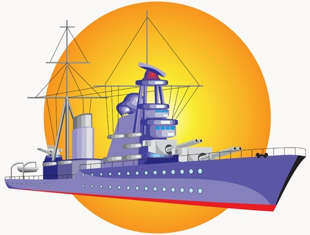 This is image of the big warship Illustration