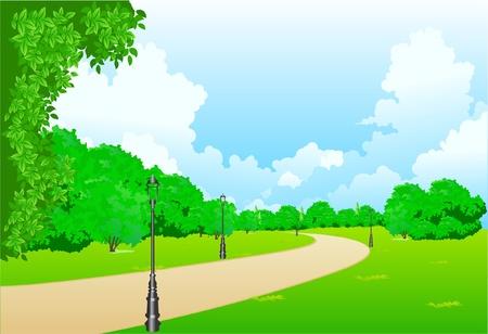 ce: Ceci est l'illustration dans le parc de la ville