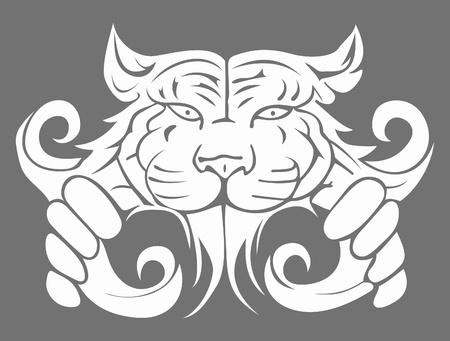 C'est illustration moderne abstraite grande tigre