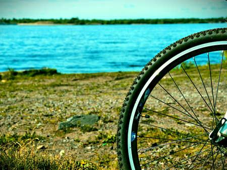 bike on the beach 版權商用圖片