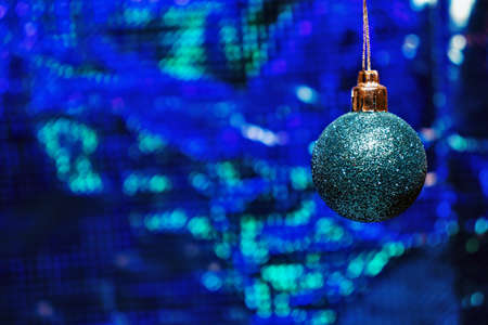 Christmas ball on a blue background