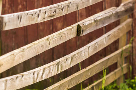 Rustic background with old wooden fence 免版税图像