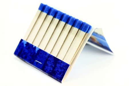 Macro Photo of Matchbook (Book of Matches) over white background. Banco de Imagens - 11234537