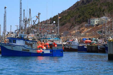 long weekend: ST JOHN S HARBOR - 17 marzo San Giovanni s Harbor, Newfoundland, Canada il 17 marzo 2014 Comune di San Giovanni s prepara per la celebrazione del Victoria Day Long Weekend tutte le barche da pesca sono ormeggiate nel porto
