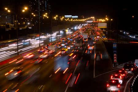 night highway: traffic on night highway