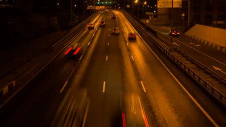 night highway: night highway motion
