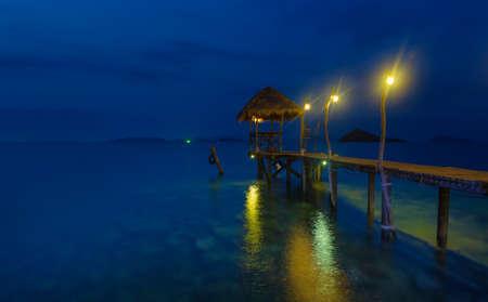 romantic pier in Thailand photo