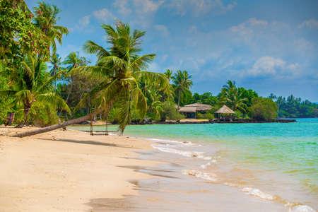 beautiful beach on the island Stock Photo