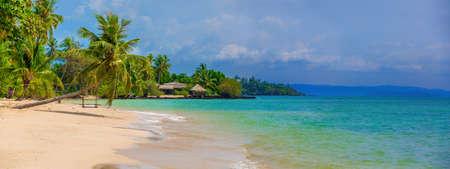beautiful beach on the island photo