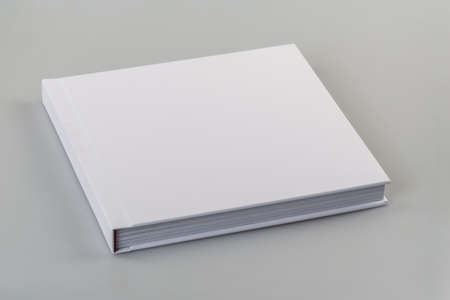 picture book: Blank book cover white