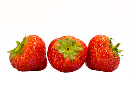 Strawberry isolated on white photo