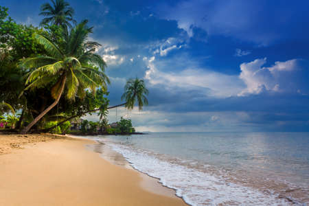 Paradise nature, sea water, summer and hotel house on the tropical beach Stock Photo