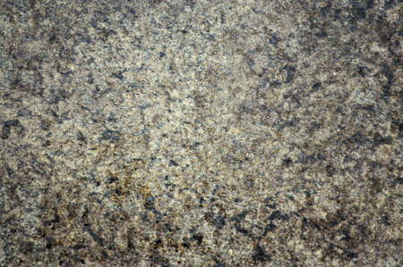 A flat, roughly finished surface of dark gray granite with fine white blotches. Background, pattern, texture.
