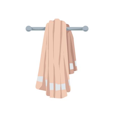 Vector illustration of folded cotton towel. Cartoon trendy flat style. Bath, beach, pool  and healthcare  icon.