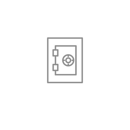 Dinero seguro icono de línea delgada. Foto de archivo - 84597542