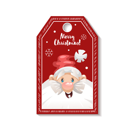 Free christmas gift label clipart