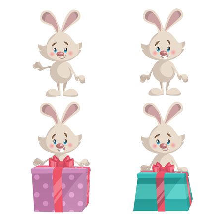 Set of bunny icon.