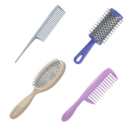 barber: Comb icon set Illustration