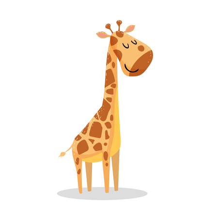 Cute cartoon giraffe Stok Fotoğraf - 91536453