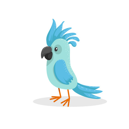 Cute cartoon parrot