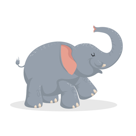 Leuke cartoonolifant Stock Illustratie