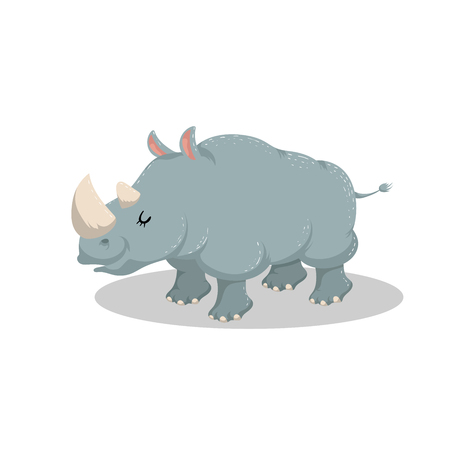 Cute cartoon rhino
