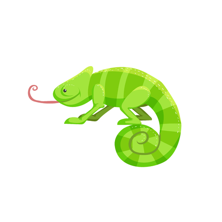 Cute cartoon chameleon