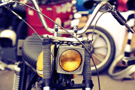 chrome: Classic motorcycle with elements of chrome Stock Photo