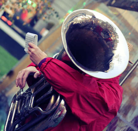 street musician: Performance of a jazz band Stock Photo