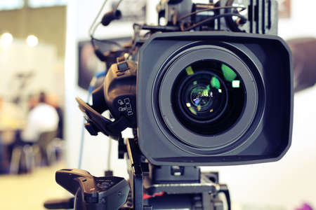 Video camera while filming 版權商用圖片