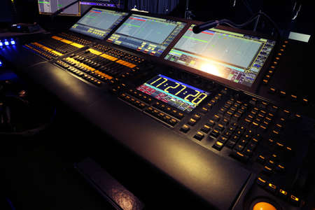 Professional audio mixing console radio  TV broadcasting