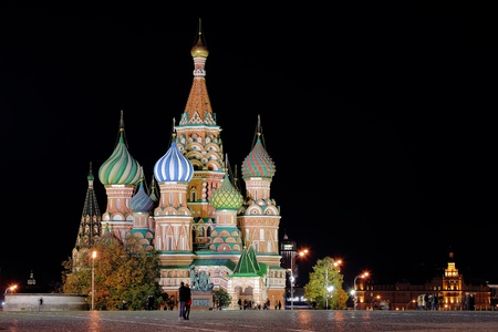 Night St  Basil Cathedral Stock Photo - 17859864