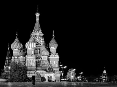 Night St  Basil Cathedral