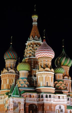 Nuit St Basil Cathedral Banque d'images