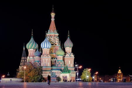 Night St  Basil Cathedral Stock Photo - 17859886