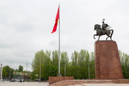 Manas Statue Epic kirghize Hero