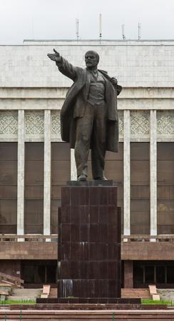 lenin: Statue of Lenin, Kyrgyzstan, Bishkek Stock Photo