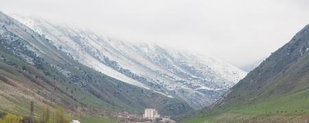 Tian Shan mountain range in Kyrgyzstan Stock Photo