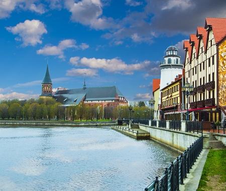 Village de p�che ethnographique et un centre commercial � Kaliningrad
