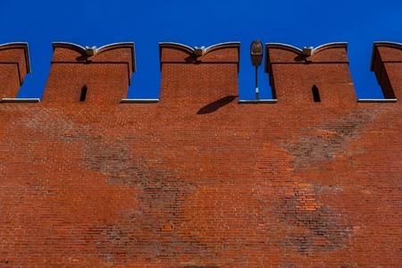 Kremlin mur qui entoure le Kremlin de Moscou, Russie Banque d'images