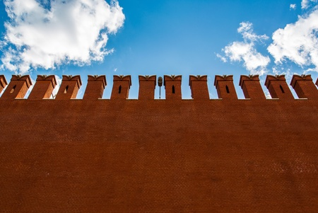 Kremlin Wall that surrounds the Moscow Kremlin, Russia Stock Photo