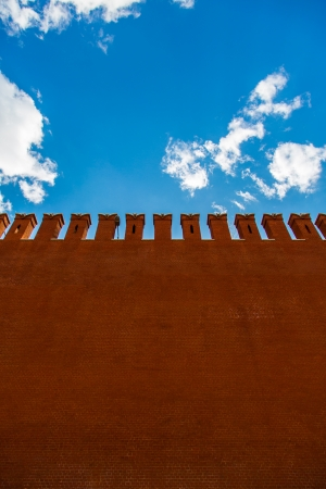 the kremlin: Kremlin Wall that surrounds the Moscow Kremlin, Russia Stock Photo